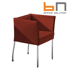 BN Cubic Luxury Suede Reception Chair £698 - Reception Furniture