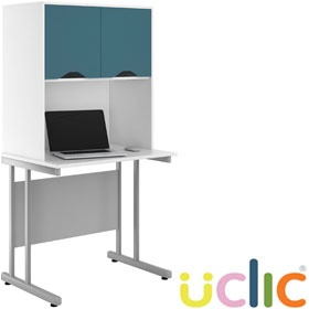 NEXT DAY Create Kaleidoscope Desks With Closed Storage £255 - Next Day Office Furniture