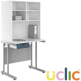 NEXT DAY Create Kaleidoscope Single Drawer Desks With Open Storage £220 - Next Day Office Furniture