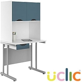 NEXT DAY Create Kaleidoscope Single Drawer Desks With Closed Storage £222 - Next Day Office Furniture