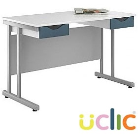 NEXT DAY Create Kaleidoscope Double Drawer Desks £153 - Next Day Office Furniture