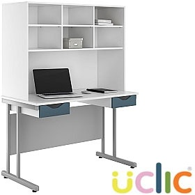 NEXT DAY Create Kaleidoscope Double Drawer Desks With Open Storage £257 - Next Day Office Furniture