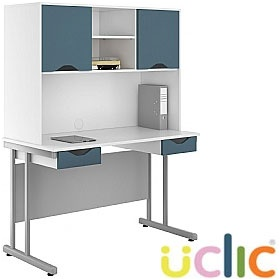 NEXT DAY Create Kaleidoscope Double Drawer Desks With Closed Storage £263 - Next Day Office Furniture