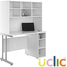 NEXT DAY Create Kaleidoscope Open Pedestal Desk With Open Storage £247 - Next Day Office Furniture