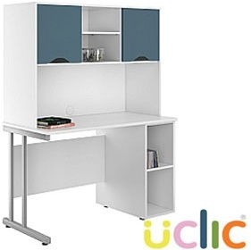NEXT DAY Create Kaleidoscope Open Pedestal Desk With Closed Storage £270 - Next Day Office Furniture