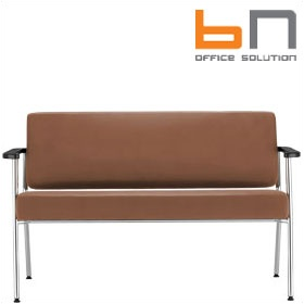 BN Zone Leather 2-Seater Sofa £358 - Reception Furniture