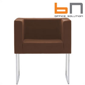BN Dallas Leather Skid Base Visitor Chair £412 - Reception Furniture