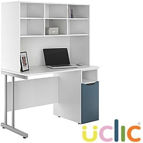 NEXT DAY Create Kaleidoscope Pedestal Desks With Open Storage £305 - Next Day Office Furniture