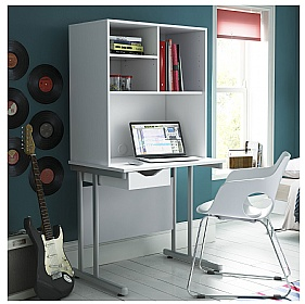 NEXT DAY Create Kaleidoscope Double Drawer Desks With Closed Storage