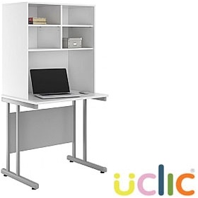 NEXT DAY Create Reflections Desks With Open Storage £180 - Next Day Office Furniture