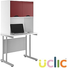 NEXT DAY Create Reflections Desks With Closed Storage £231 - Next Day Office Furniture