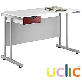 NEXT DAY Create Reflections Single Drawer Desks £109 - Next Day Office Furniture