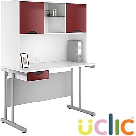 NEXT DAY Create Reflections Single Drawer Desks With Closed Storage £213 - Next Day Office Furniture