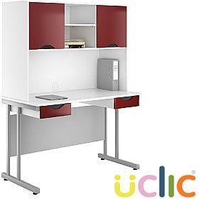NEXT DAY Create Reflections Double Drawer Desks With Closed Storage £315 - Next Day Office Furniture