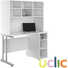 NEXT DAY Create Reflections Open Pedestal Desk With Open Storage £264 - Next Day Office Furniture