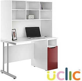 NEXT DAY Create Reflections Pedestal Desks With Open Storage £279 - Next Day Office Furniture