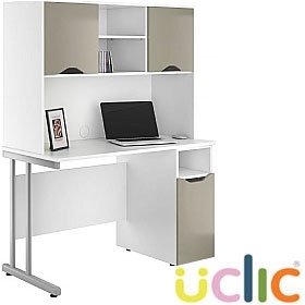 NEXT DAY Create Reflections Pedestal Desks With Closed Storage