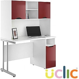 NEXT DAY Create Reflections Pedestal Desks With Closed Storage £340 - Next Day Office Furniture