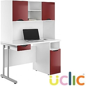 NEXT DAY Create Reflections Combination Desks £362 - Next Day Office Furniture