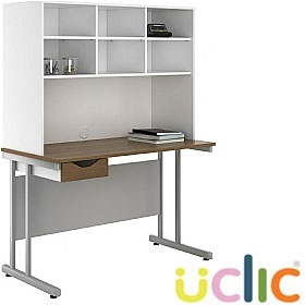NEXT DAY Create Sylvan Single Drawer Desks With Open Storage £200 - Next Day Office Furniture