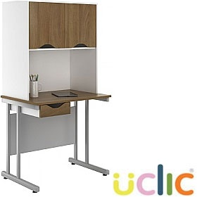 NEXT DAY Create Sylvan Single Drawer Desks With Closed Storage £208 - Next Day Office Furniture