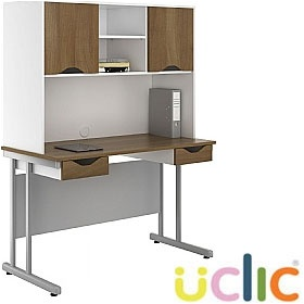 NEXT DAY Create Sylvan Double Drawer Desks With Closed Storage £263 - Next Day Office Furniture