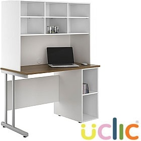 NEXT DAY Create Sylvan Open Pedestal Desk With Open Storage £264 - Next Day Office Furniture
