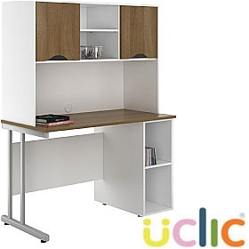 NEXT DAY Create Sylvan Open Pedestal Desk With Closed Storage £318 - Next Day Office Furniture