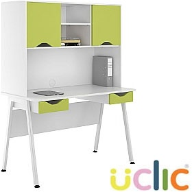 NEXT DAY Aspire Kaleidoscope Double Drawer Desks With Closed Storage £302 - Next Day Office Furniture