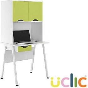 NEXT DAY Aspire Kaleidoscope Single Drawer Desks With Closed Storage £267 - Next Day Office Furniture