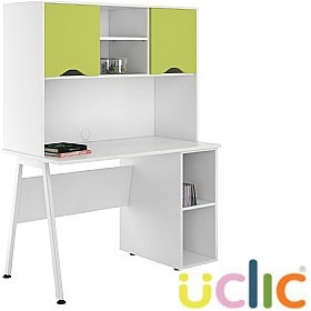 NEXT DAY Aspire Kaleidoscope Open Pedestal Desk With Closed Storage £298 - Next Day Office Furniture
