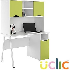 NEXT DAY Aspire Kaleidoscope Pedestal Desks With Closed Storage £343 - Next Day Office Furniture
