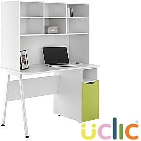 NEXT DAY Aspire Kaleidoscope Pedestal Desks With Open Storage £287 - Next Day Office Furniture