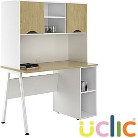 NEXT DAY Aspire Sylvan Open Pedestal Desk With Closed Storage £329 - Next Day Office Furniture
