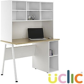 NEXT DAY Aspire Sylvan Open Pedestal Desk With Open Storage £302 - Next Day Office Furniture