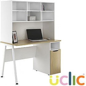NEXT DAY Aspire Sylvan Pedestal Desks With Open Storage £316 - Next Day Office Furniture