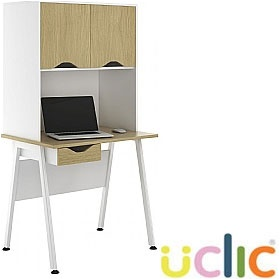 NEXT DAY Aspire Sylvan Single Drawer Desks With Closed Storage £243 - Next Day Office Furniture