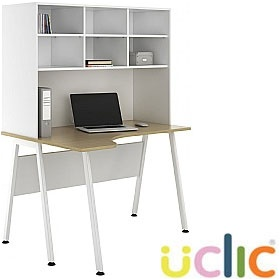 NEXT DAY Aspire Sylvan Corner Desks With Open Storage £281 - Next Day Office Furniture