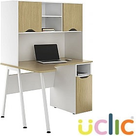 NEXT DAY Aspire Sylvan Corner Pedestal Desks With Closed Storage £372 - Next Day Office Furniture