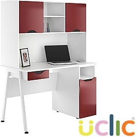 NEXT DAY Aspire Reflections Combination Desks £341 - Next Day Office Furniture
