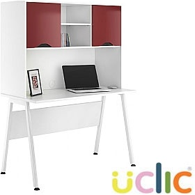 NEXT DAY Aspire Reflections Desks With Closed Storage £276 - Next Day Office Furniture