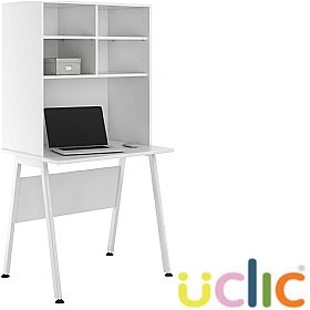 NEXT DAY Aspire Reflections Desks With Open Storage £222 - Next Day Office Furniture