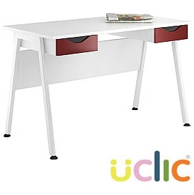 NEXT DAY Aspire Reflections Double Drawer Desks £146 - Next Day Office Furniture
