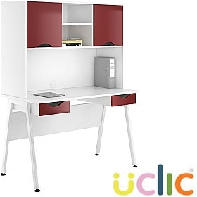 NEXT DAY Aspire Reflections Double Drawer Desks With Closed Storage £308 - Next Day Office Furniture