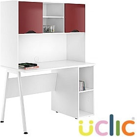 NEXT DAY Aspire Reflections Open Pedestal Desk With Closed Storage £303 - Next Day Office Furniture