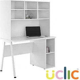 NEXT DAY Aspire Reflections Open Pedestal Desk With Open Storage £274 - Next Day Office Furniture