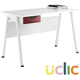 NEXT DAY Aspire Reflections Single Drawer Desks £150 - Next Day Office Furniture