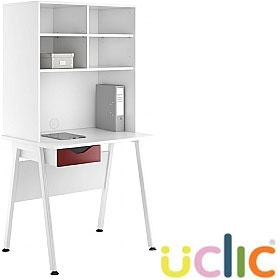 NEXT DAY Aspire Reflections Single Drawer Desks With Open Storage £208 - Next Day Office Furniture