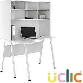 NEXT DAY Aspire Reflections Corner Desk With Open Storage £249 - Next Day Office Furniture