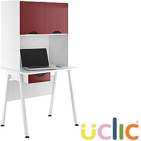 NEXT DAY Aspire Reflections Single Drawer Desks With Closed Storage £249 - Next Day Office Furniture